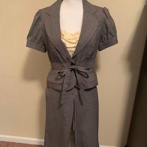 Junior girls 3 piece crop pantsuit